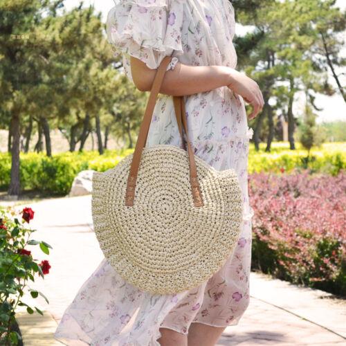 ❤ Summer Women Straw Rattan Holiday Beach Bag Woven Handbag Crossbody Tote Purse