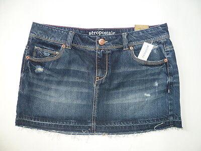 Womens AEROPOSTALE Released Hem Denim Mini Jean Skirt NWT #2442