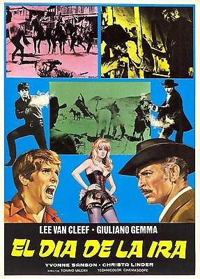 1967 DAY OF ANGER VINTAGE SPAGHETTI WESTERN MOVIE POSTER PRINT 24x16