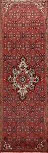 Vintage-Traditional-Geometric-Hand-knotted-Runner-Rug-Medallion-Oriental-3-039-x10-039