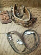 Vintage 1981 Klein Lineman Gear Belt Electrician Line Man Size 40 48 Nice