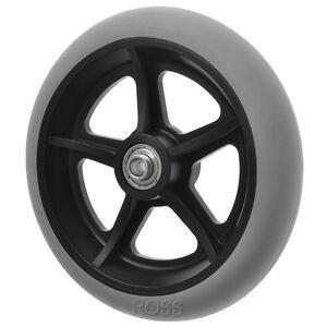 200mm-8-034-Non-Marking-Grey-Rubber-Wheelchair-Wheel