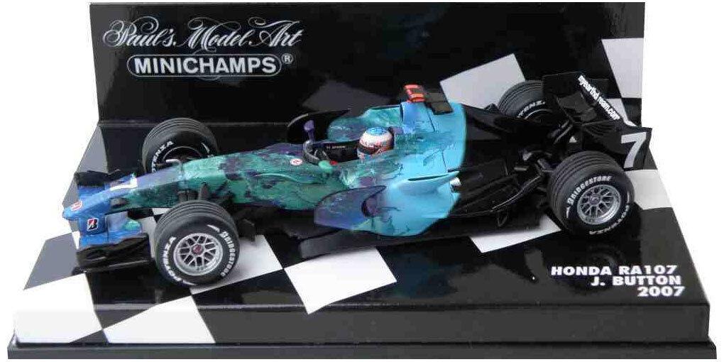 Minichamps Honda RA107 2007 - Jenson Button 1 43 Scale