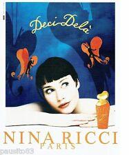PUBLICITE ADVERTISING  116  1997   Nina Ricci  parfum Deci Delà  Jean Larivière