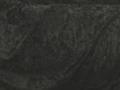 "BLACK VELVET PANNE CRUSHED BACKDROP VELOUR STRETCH FABRIC 60"" WIDE"