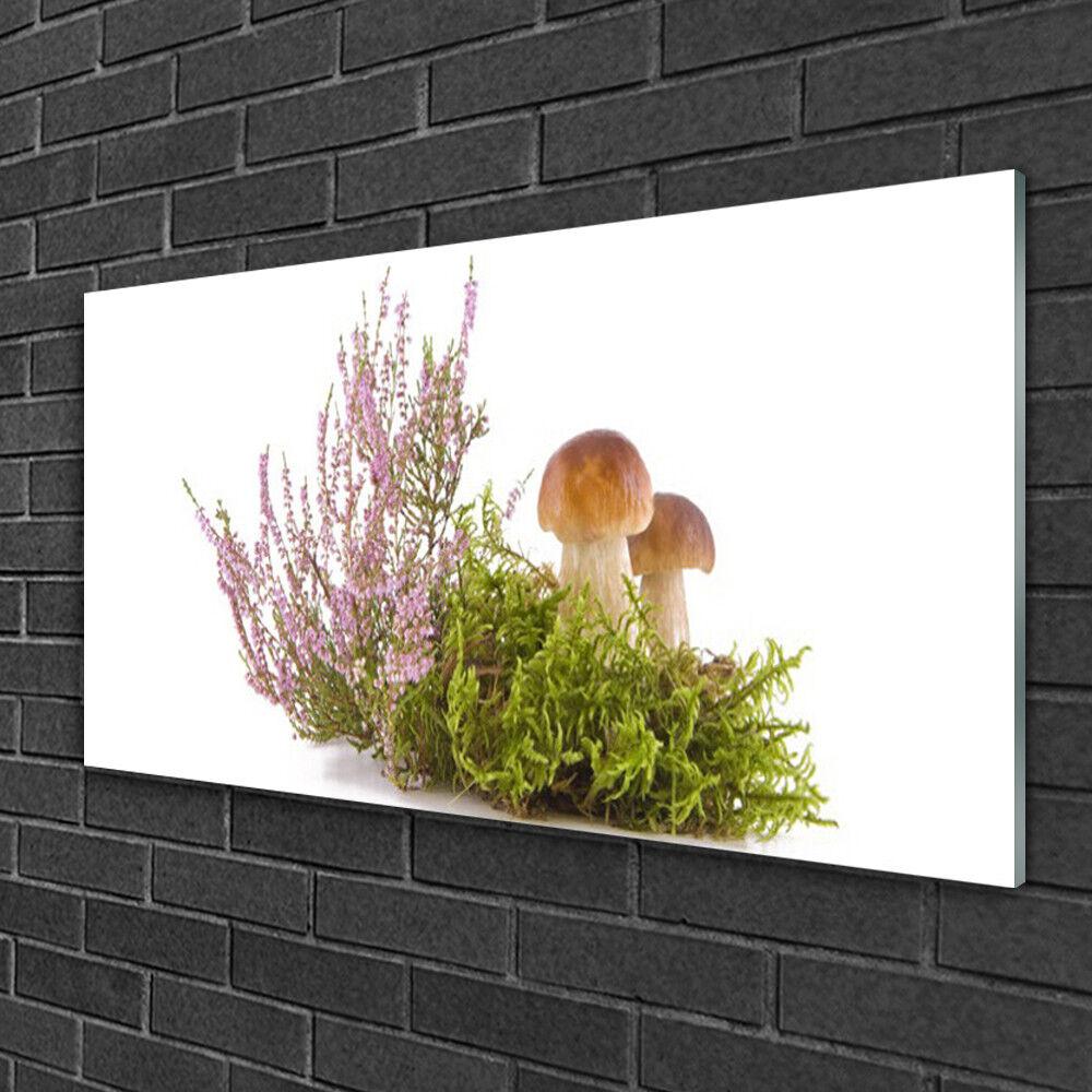 Acrylglasbilder 100x50 Wandbild Druck Pilze Pflanzen