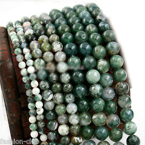 Wholesale-Natural-Aquatic-Agate-Round-Gemstone-Loose-Spacer-Beads-4-6-8-10-12mm