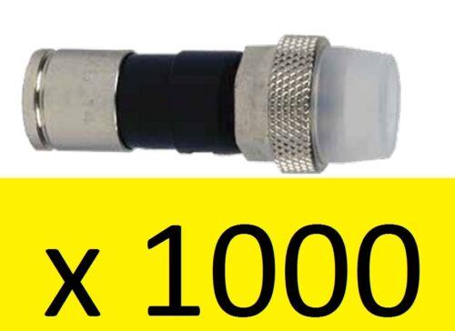 LOT 1000 Coax RG6 PPC EX6XLWSPLUS Connectors CLEAR Transparent Weather Boots EX6