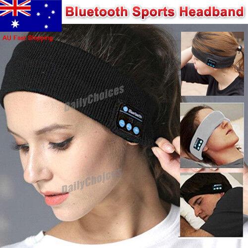 Bluetooth Wireless Stereo Headphone Head Band Sleep Headset Sports Headbands