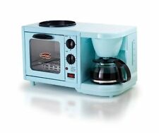 NEW MaxiMatic Elite Cuisine 3-in-1 Breakfast Station 4-Cup Coffee Maker, BLUE