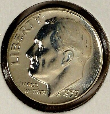 10C US Coin 1957 P Roosevelt Silver Dime 90/% Silver