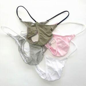 K208-C-Mens-Small-Mini-Bikini-String-waist-Fine-Cotton-Soft-Smooth-colors
