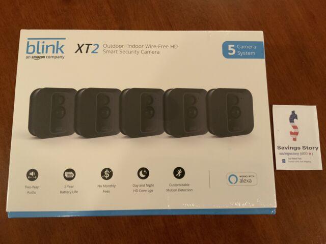 Blink XT2 5-Camera Indoor Outdoor 1080p Smart Home Security System W/  Storage
