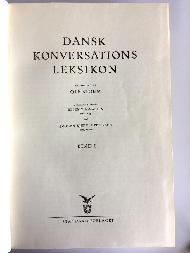 Dansk Konversations Leksikon - Ole Storm