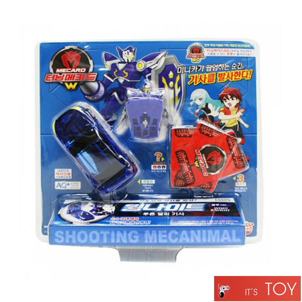 Turning Mecard W Wing Knight bluee Ver. Shooting Mecarnimal Robot Car Toy 2017