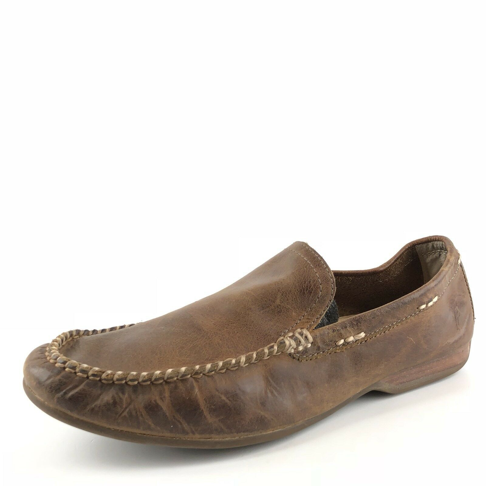 Scarpe casual da uomo  Frye Lewis Venetian Brown Leather Loafers Driving Mocs uomos Size 7.5 M