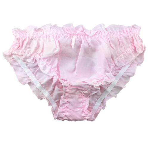 1 o 3 Pack Donna 100/% pura seta Frilly Bikini Knicker Arruffato Pantaloni UK 8-12
