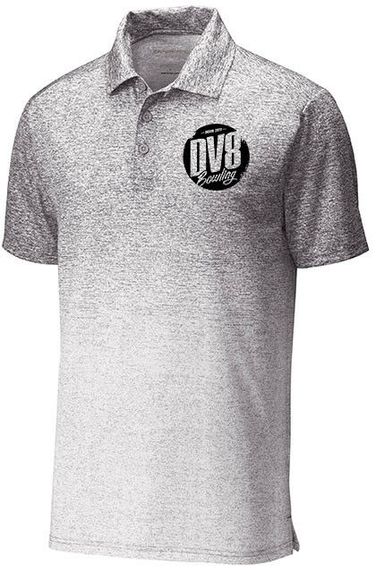 DV8 Men's Rebellion Ombre Performance Polo Bowling Shirt White Graphite