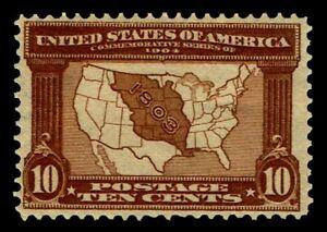 US-327-10c-Louisiana-Purchase-Issue-of-1904-OGLH-F-VF-85-00-ESP-0858