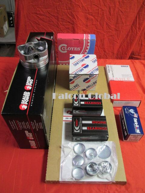 Mercruiser Marine Chevy 7.4/454 GEN V Engine Kit Pistons+RingS+WP w/rect. intake