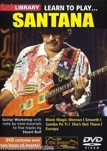 Santana instructional dvd lick library pic