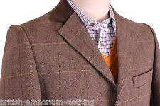 THOMAS PINK Brown Herringbone KEOUGH 2 Fly Overcoat Coat BNWT Uk38