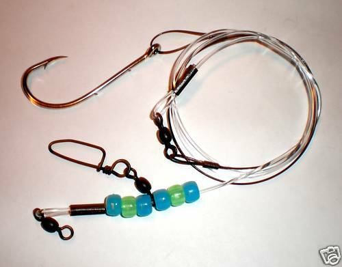 """Extreme //Pack of 3// 150#Mono 90#1X7SS 8//0 /""""J/"""" Hook Redfish Rigs"""