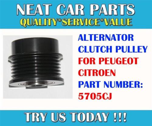 ALTERNATOR CLUTCH PULLEY FOR PEUGEOT 407 607 2.7 HDI 04 /> ONWARDS 5705CJ