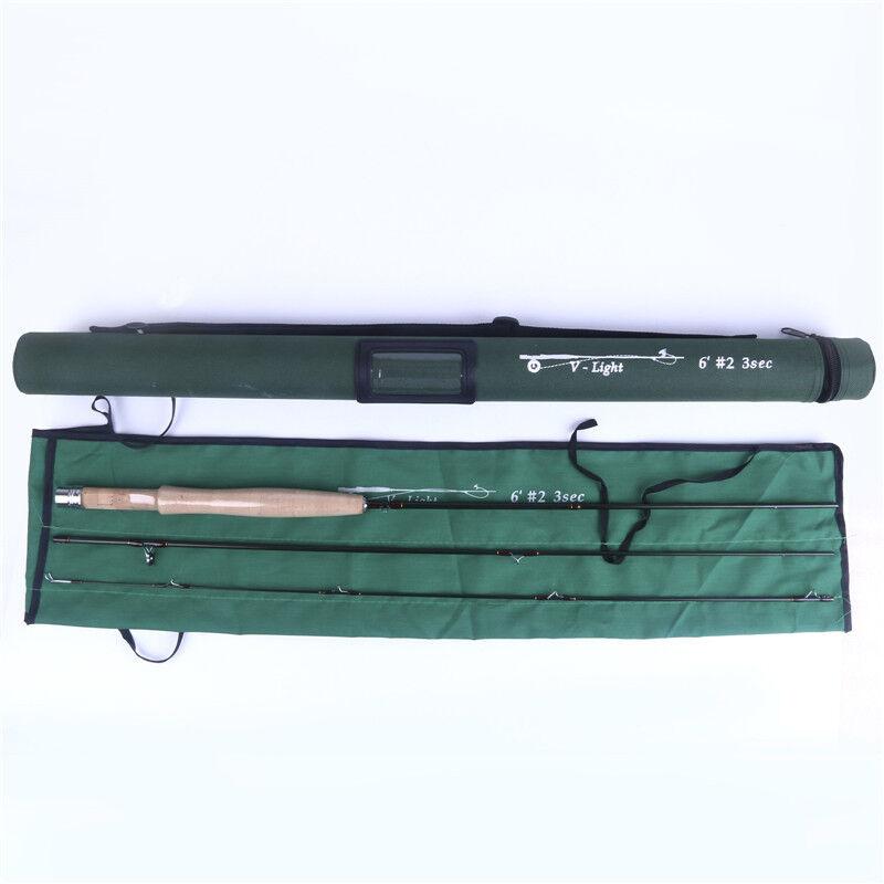 6'2wt V-leggero by FMO 3pc Travel volare Rod IM12 Graphite gratuito Brook Trout Gaiter