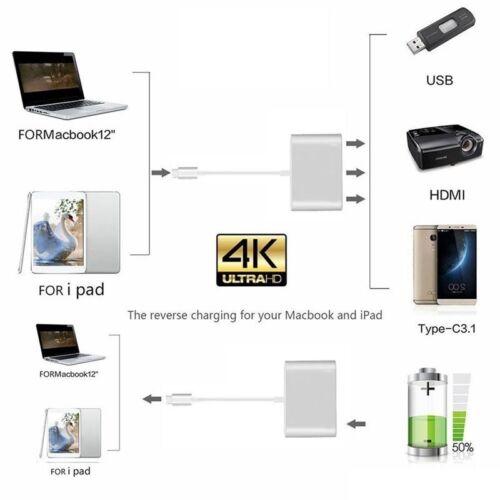 USB 3.1 TYPE-C to HDMI VGA USB 3.0 Charging Hub Adapter for LG G5 G6 Premium New