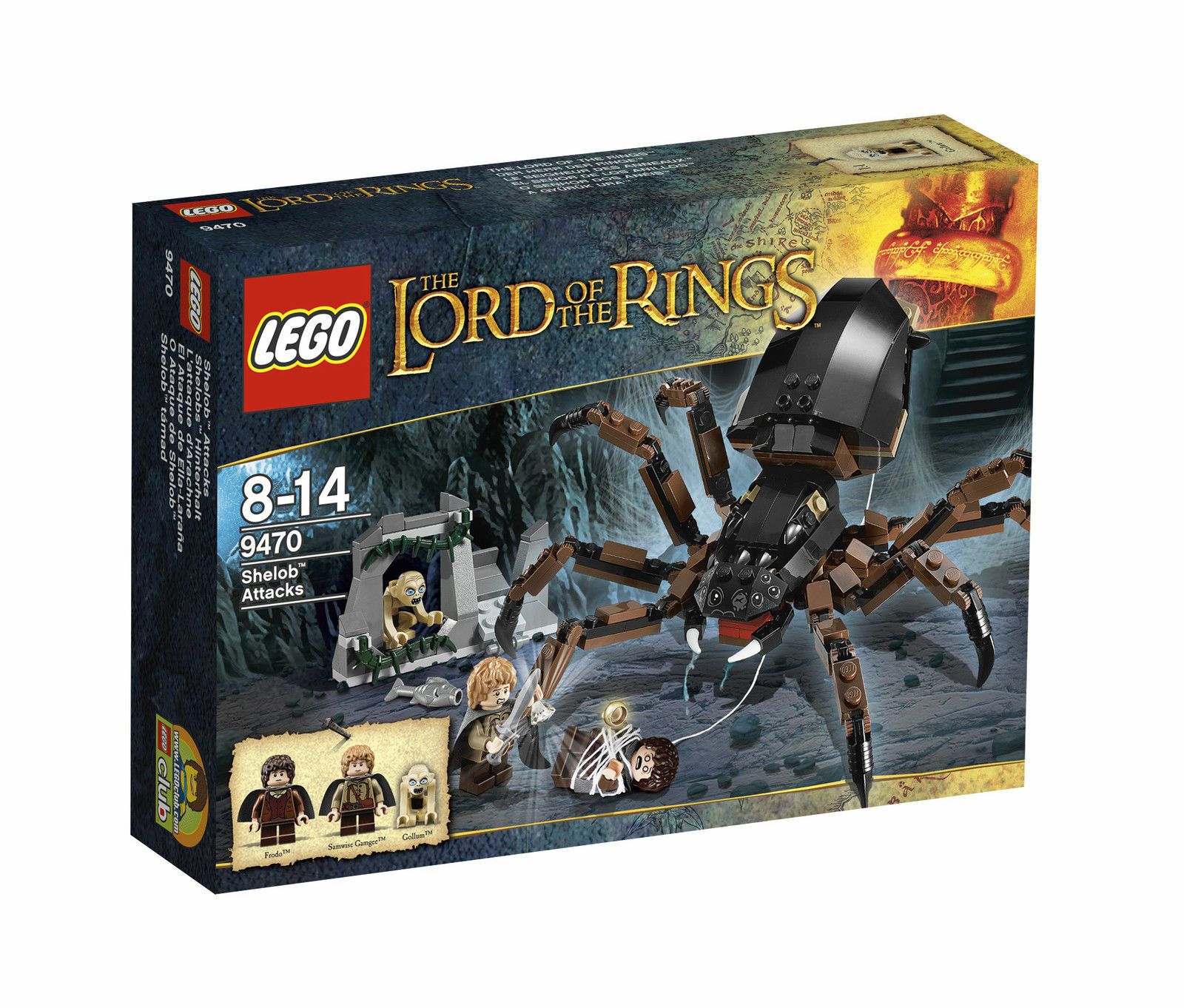 LEGO The Lord of the Rings dell'agguato di Shelob  9470