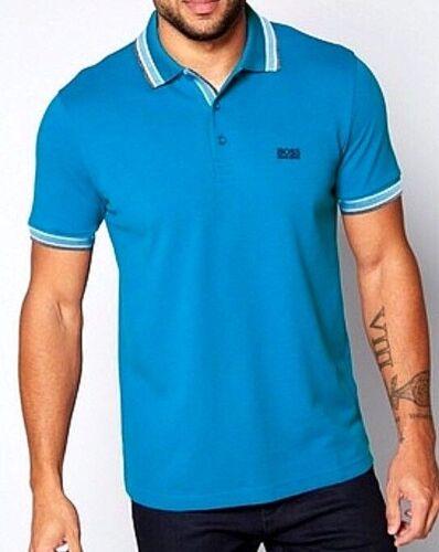 NUOVO Hugo Boss Polo Paddy 50302557 T-shirt MEDIUM BLUE Taglia 2XL