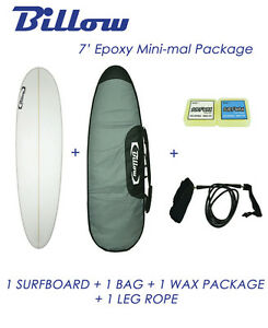 NEW-Billow-7-039-Epoxy-Mini-mal-Surfboard-Matte-Finish-Package-with-5xFCS-fins
