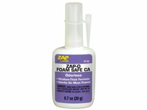 Pacer Zap ZAP-O 20g Foam Safe ca Odourless Cyano Adhesive PT25