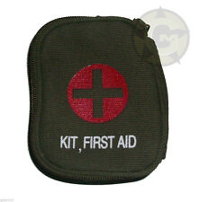 First Aid Kit Zipper Pouch Individual 1st aid OD Belt Loop Field Medic New