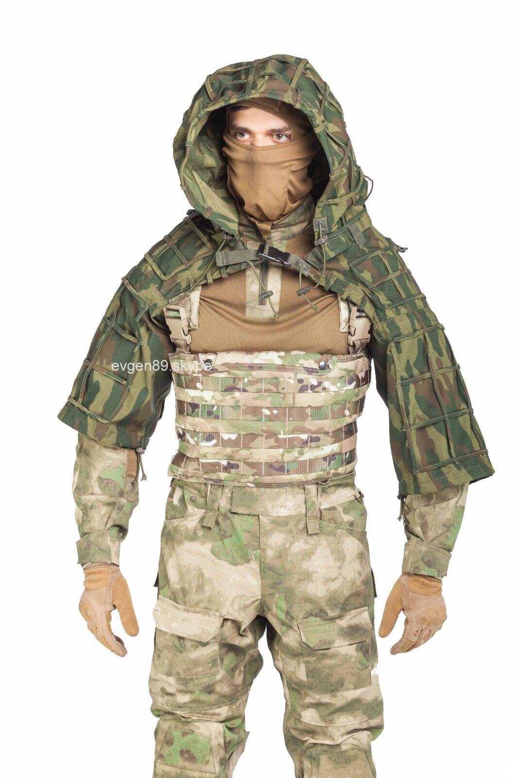 Disguise Sniper Coat    Viper Hood Russian Spetsnaz Ripstop Flora VSR-98  most preferential