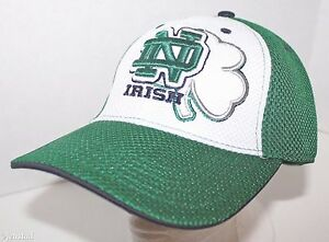 60e11054a3c NOTRE DAME FIGHTING IRISH NCAA STRETCH FIT MESH HAT TOP OF THE WORLD ...