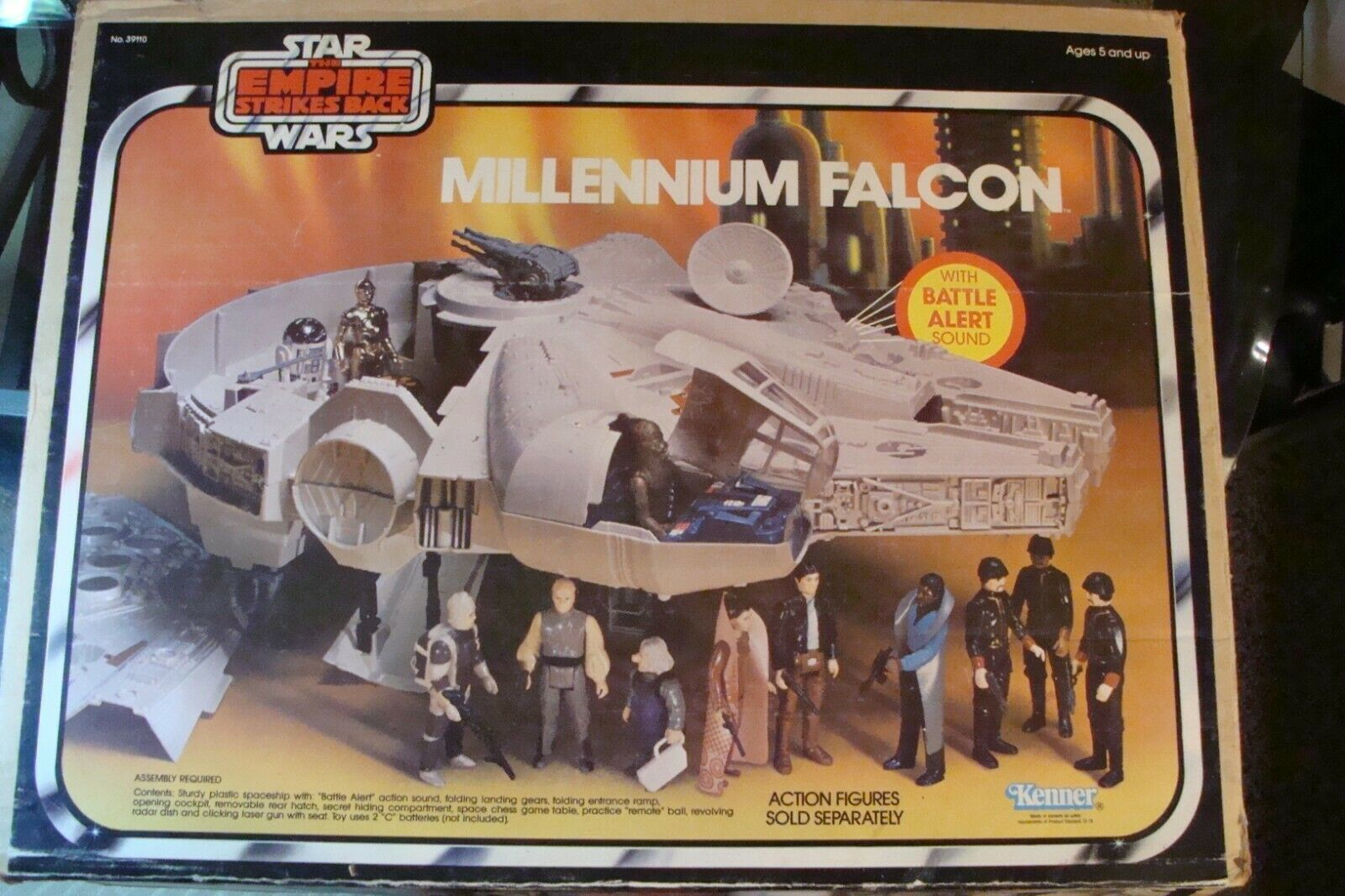 Star Wars 1980 MILLENNIUM FALCON boxed Kenner Empire Strikes Back vintage ship