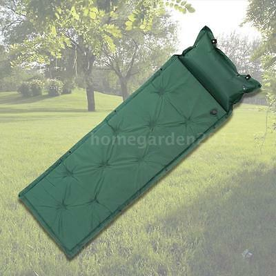 Thick Automatic Inflatable Mattress Self-Inflating Tent Mat Picnic Pillow N8N7