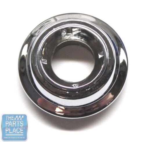 1965-72 Pontiac GTO LeMans Remote Mirror Bezel Nut Chrome