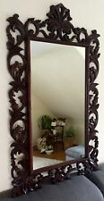 Antik Spiegel Vintage Holzrahmen hangeschnitzt Prunkrahmen Rahmen