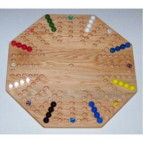 THE PUZZLE-MAN TOYS W-1954 Wooden Marble Game Game Game Board - Aggravation - New 22 in... 2db9ad