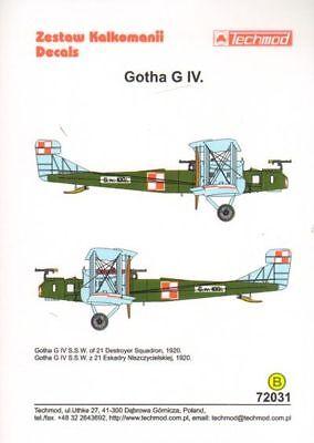 IV # 72129 Techmod 1//72 Gotha G
