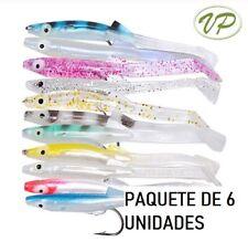 Raglou vinilos de pesca Señuelos blandos con anzuelo. 85 mm. Paquete 6...