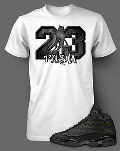 T Shirt to Match AIR JORDAN 13 FLINT Shoe White T Short Sleeve Pro Club Graphic