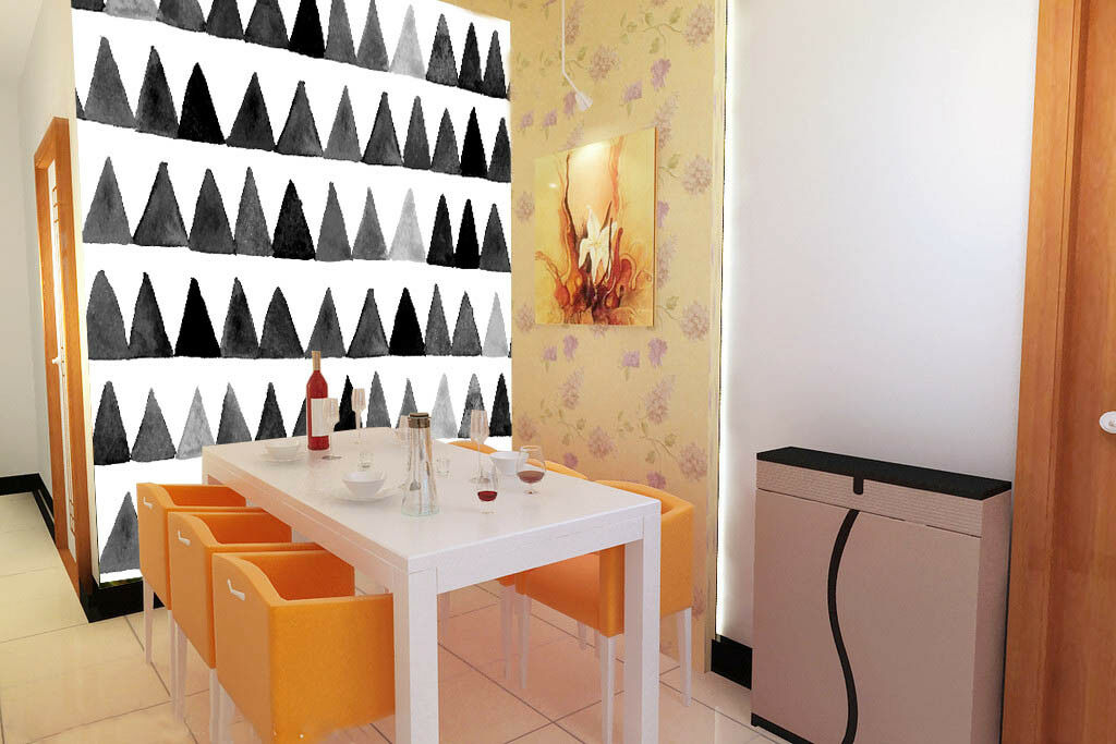 3D Cute Triangles 78 Wall Paper Murals Wall Print Wall Wallpaper Mural AU Lemon