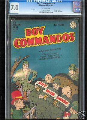 Boy Commandos #13  CGC  7.0  FN/VF  Universal