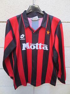 VINTAGE-Maillot-MILAN-AC-Lotto-DONADONI-n-7-maglia-shirt-Milano-XXL-kid-164-XS