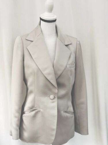 Vintage Bill Tice For Malcom Starr Taupe Silk Blen