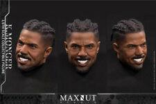 MAXNUT STUDIO 1//6 male Head Sculpt  Black Panther Erik Killmonger Phicen ❶USA❶